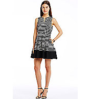 City Stripe Jacquard Dress