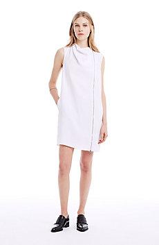Cowlneck Full-Zip Dress