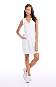 Draped Stretch Lyocell Dress