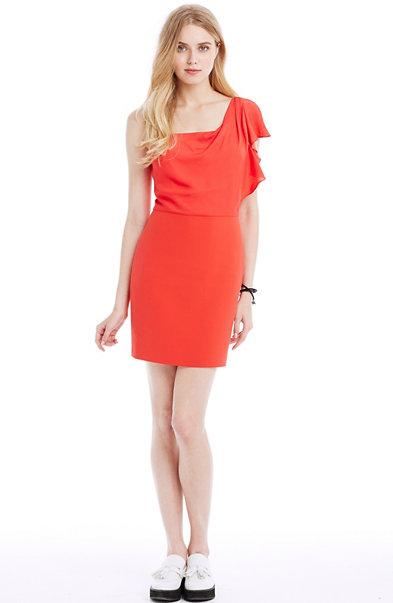 Satin Cascade Dress