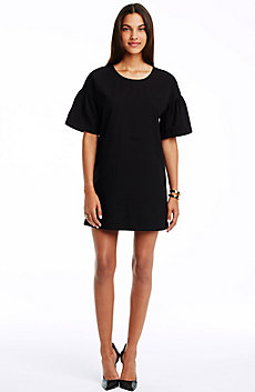 Bell Sleeve Cotton Tee Dress