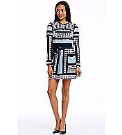 Mixed Print Tee Dress