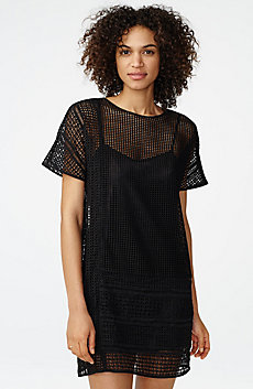 Sheer Lace Tee Dress