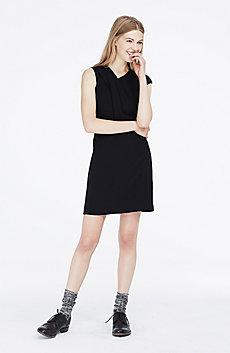 Asymmetrical Pleat Dress