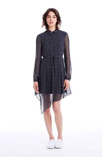 Asymmetric Print Dress