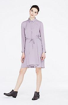 Satin Shirtdress