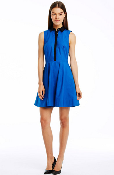 Sleeveless Contrast Shirtdress