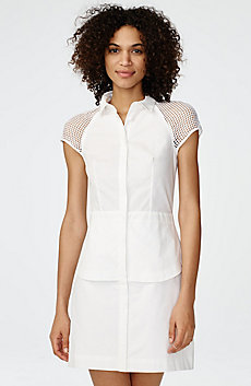 Layered Poplin Shirtdress