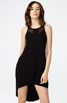 Sheer Inset Tank Dress