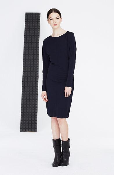 Seamed Boatneck Dress