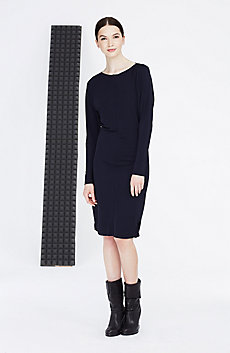 Seamed Boatneck Dress