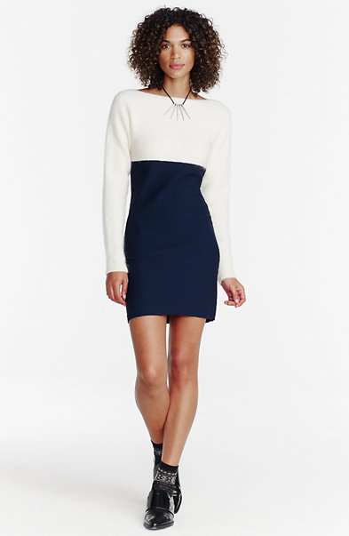 Colorblock Dolman-Sleeve Dress