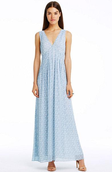 Sleeveless Pintuck Maxi Dress
