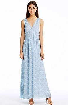 Sleeveless Pintuck Maxi Dress