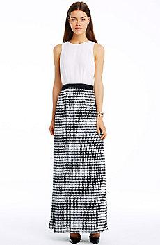 Contrast Maxi Dress