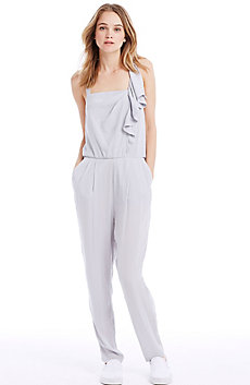 Satin Cascade Jumpsuit