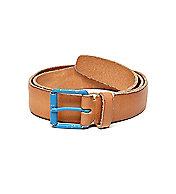 Contrast Buckle Leather Belt