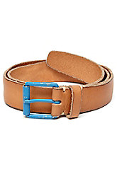 Contrast Buckle Leather Belt