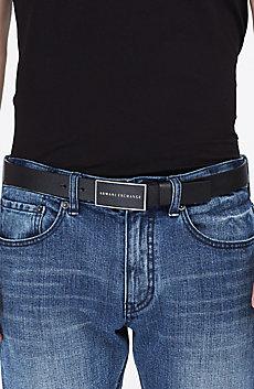 Saffiano Logo Belt