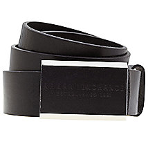 Leather Logo Plaque Belt