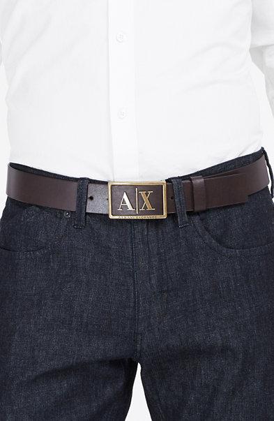 Metal Inlay Logo Belt