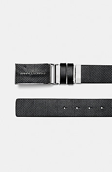 Reversible Textured Logo Belt