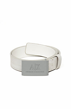 A|X Metal Plaque Belt