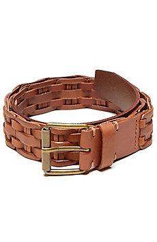 Braided Insert Leather Belt