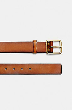Curve-Prong Buckle Belt