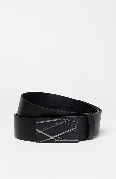 Graphic Leather Belt