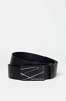 Graphic Leather Belt
