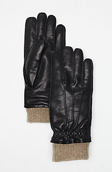 Wool-Lined Leather Gloves