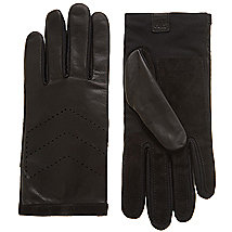 Chevron Perforated Leather Glove