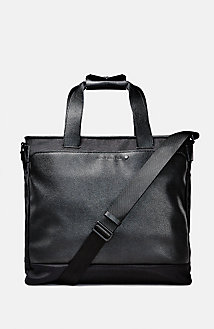 Sleek Mixed Media Tote