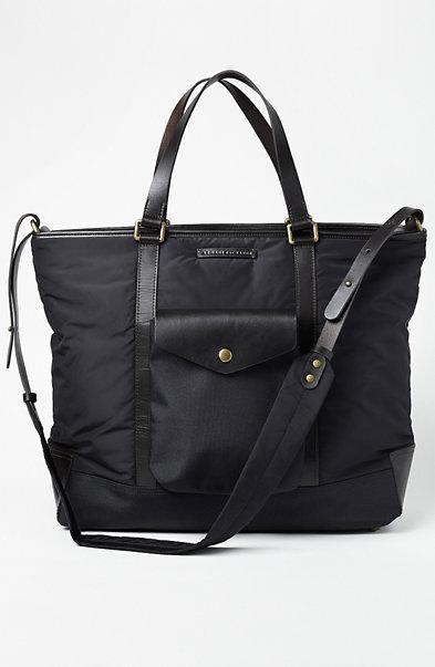 Leather & Nylon Travel Tote