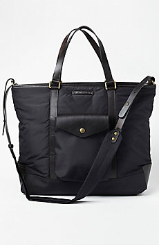 Leather & Nylon Travel Tote