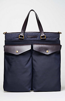 Soft Nylon & Leather Tote