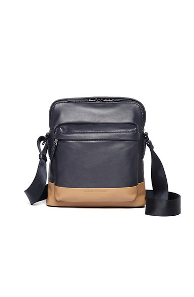 Colorblock Leather Crossbody Bag