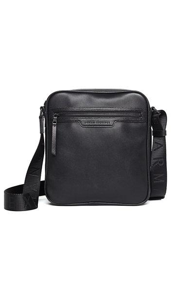 Saffiano-Trim Shoulder Bag