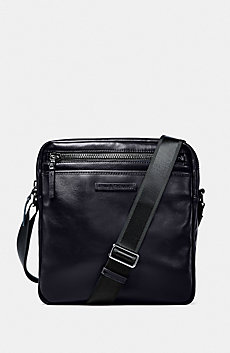 Top-Zip Leather Satchel