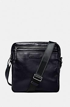 Top-Zip Leather Satchel