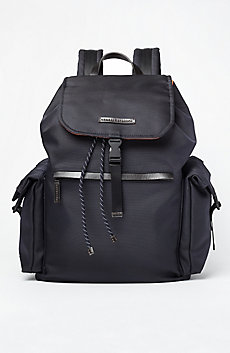 Contrast Nylon Backpack