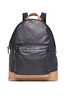 Colorblock Leather Backpack