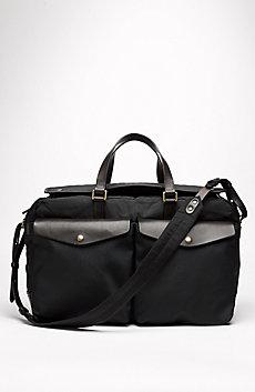 Leather & Nylon Weekender Bag