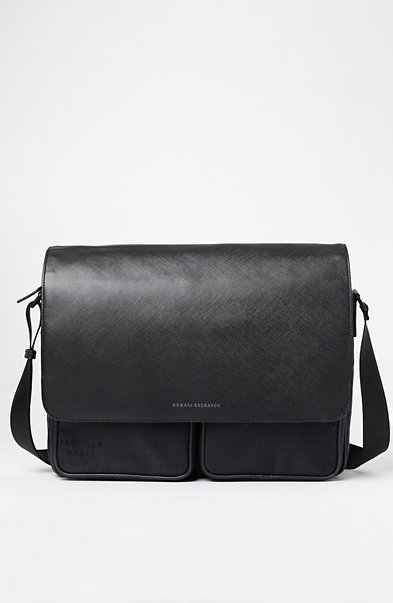 Logo Jacquard Messenger Bag