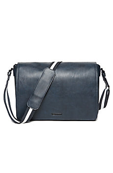 Contrast Stripe Messenger Bag
