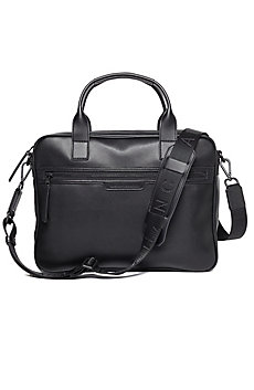 Saffiano-Trim Briefcase