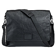Pebbled Messenger Bag