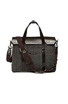 Wool Leather Briefcase