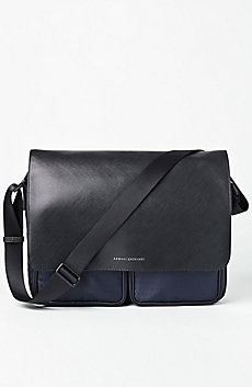 Nylon Logo Messenger Bag